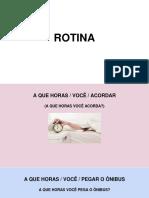 Rotina - portugues para estrangeiros