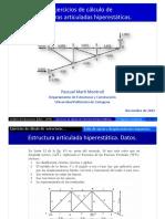 08. Ejercicios de Calculo de Estructuras Articuladas Hiperestaticas Prs