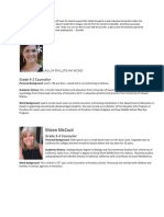 updated student support team info - google docs