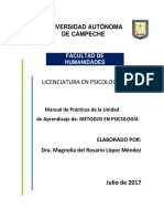Manual de Prácticas de La Asignatura de Métodos en Psicología
