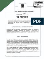 DECRETO 50 DEL 16 ENERO de 2018 Vertimiento Al Suelo