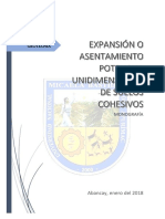 Expansión o Asentamiento Potencial Unidimensional de Suelos Cohesivos - Wilmer Alberto Tuñoque Zela