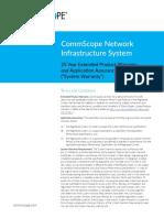 CommScope Network Infrastructure Sys Extended Warranty FM-111043-En