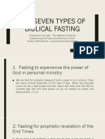 The Seven Types of Biblical Fasting