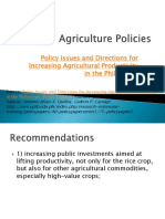 Agriculture Policies Recommendations