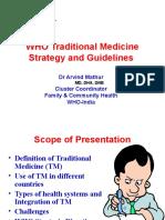 Dr. Arvind WHO