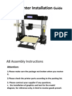 A8 3D Printer Installation Instructions1.1
