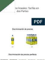 Precios No Lineales
