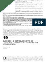 Texto 5 - 2016. HUTZ. Cap 19 Cuidados No Estabelecimento Do Diagnóstico Psicológico Na Infância e Na Adolescência
