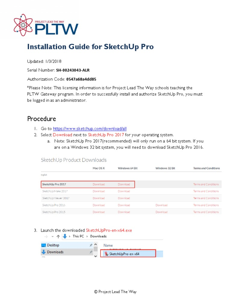 Installation+Guide+for+SketchUp   Sketch Up   Computer Architecture