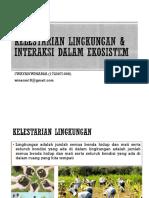 Kelestarian Lingkungan & Interaksi Dalam Ekosistem