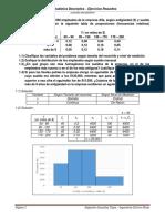 Estadística Descriptiva Ejercicios Propuestos Análisis Estadístico USACH
