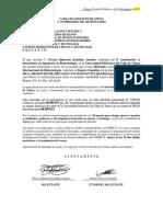 Carta de Solicitud de Apoyo Colomabia