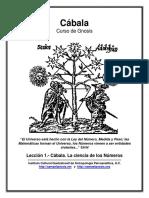 Cábala, La ciencia de los Números (Lección N°1) por ICQ.pdf