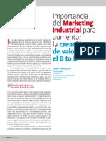 Importancia Del Marketing Industrial Para Aumentar La Creación de Valor en El B to B