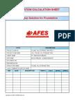 Afes Calc. of Found. Diesel Oil Tank