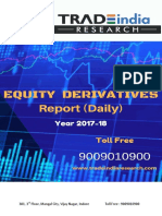 Equity Derivative Prediction Report for 17-01-2018 by TradeIndia Research