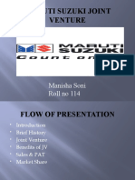 Maruti Suzuki Joint Venture
