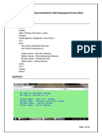 HTML Practical File