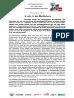 Eisspeedway Berlin 2018, Pressemitteilung 180116