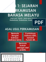 Bab 1 Sejarah Perkamusan Bahasa Melayu