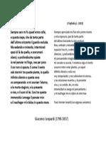 """El Infinito"", Giacomo Leopardi"