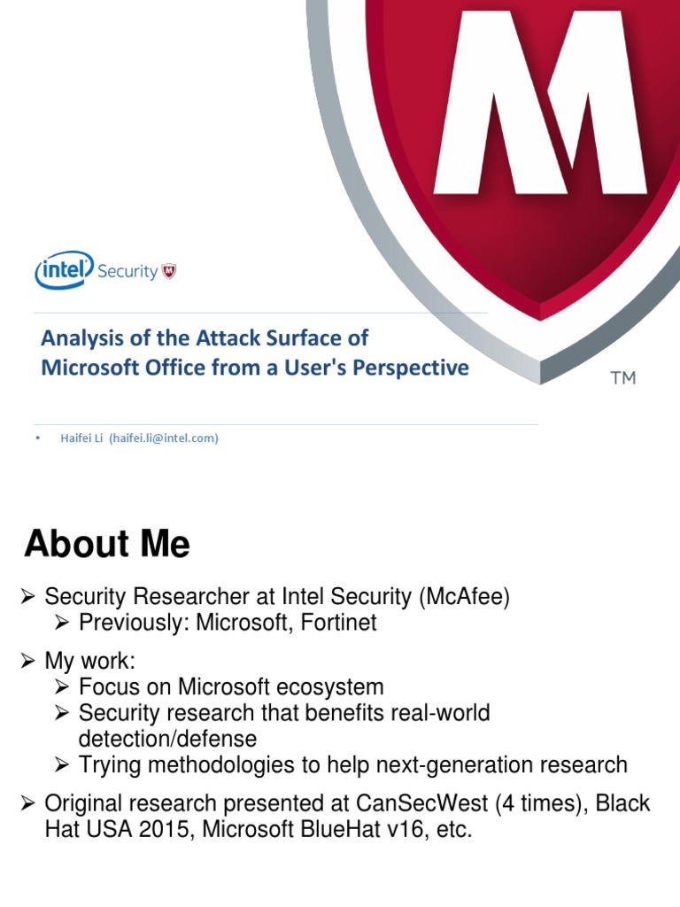 Analysis of the Attack Surface of Microsoft Office From User