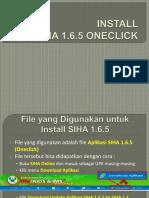 02. Install SIHA 1.6.5