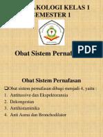 Farmakologi obat Sistem Pernafasan