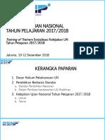 4. Paparan Kebijakan Ujian Nasional 2018, Final Lokakarya