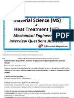 Material Science (MS) and Heat Treatment (HT) Mechanical Engineering Interview Questions Answers _ the FREE STUDY