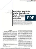 _A Mathematical Solution for Gas-To-surface Radiative Exchange Area for a Rectangular Parallelopiped Enclosure Containing a Gray Medium
