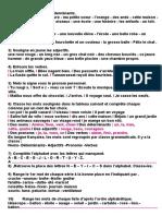 Français2011- 2012 4AP Exercices de Base