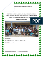 The role of the parish pastoral formation team... in the Archdiocese of Bamenda.