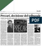 Quotidiano della Calabria 17 agosto 2010 - Policaro - Salva Precari