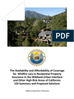 010418 California Department of Insurance Fire Availability and Affordability report