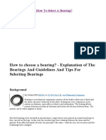 Bearing Selection - How to Select a Bearing