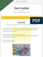 butterfly ~ zan crochet