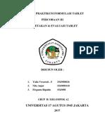 Fortab Laporan 3 Evaluasi Tablet