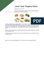 Apa Saja 15 Makanan Alami Untuk Tinggikan Badan Menurut Pakar Kesehatan?