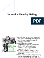 Semantics - Lexical and Phrasal
