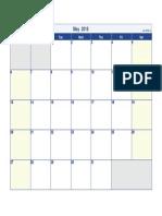 May 2018 Calendar