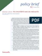 Etude de l'OFCE sur les impacts du PLF 2018