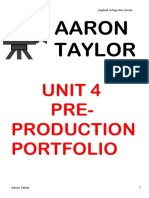 Pre Production Portfolio Report