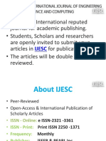 ijesc journal International Journal of Engineering Science and Computing
