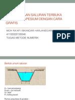Perencanaan penampang saluran drainase bentuk trapesium dengan cara.pptx