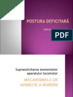 6 Kt Def Fizice Postura Deficitara Etiologia Durerii
