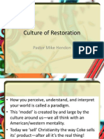 Culture of Restoration