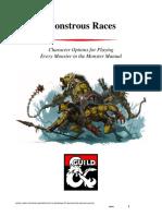 DMS Guild 5e Monstrous Races