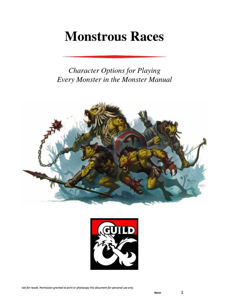 DMS Guild 5e Monstrous Races | Dungeons & Dragons | Werewolves